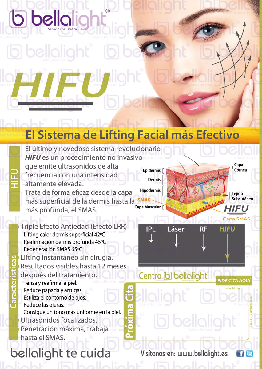 Bellalight Protocolo Top Beauty Bellalight Y Hifu Lifting